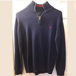 Polo Ralph Lauren 1/2 Zip Sweater Blue Knit